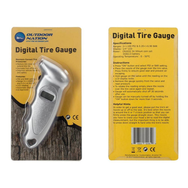 Outdoor Nation, Digital Tire Pressure Gauge - DailySale, Inc