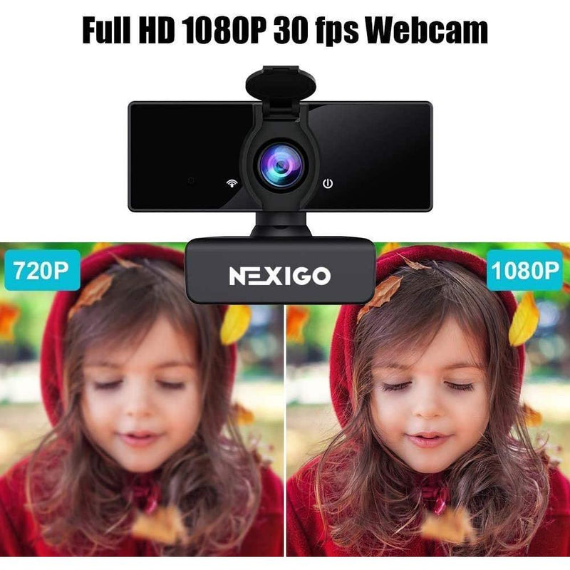 NexiGo USB FHD Web Computer Camera with Dual Microphone & Privacy Cover Computer Accessories - DailySale