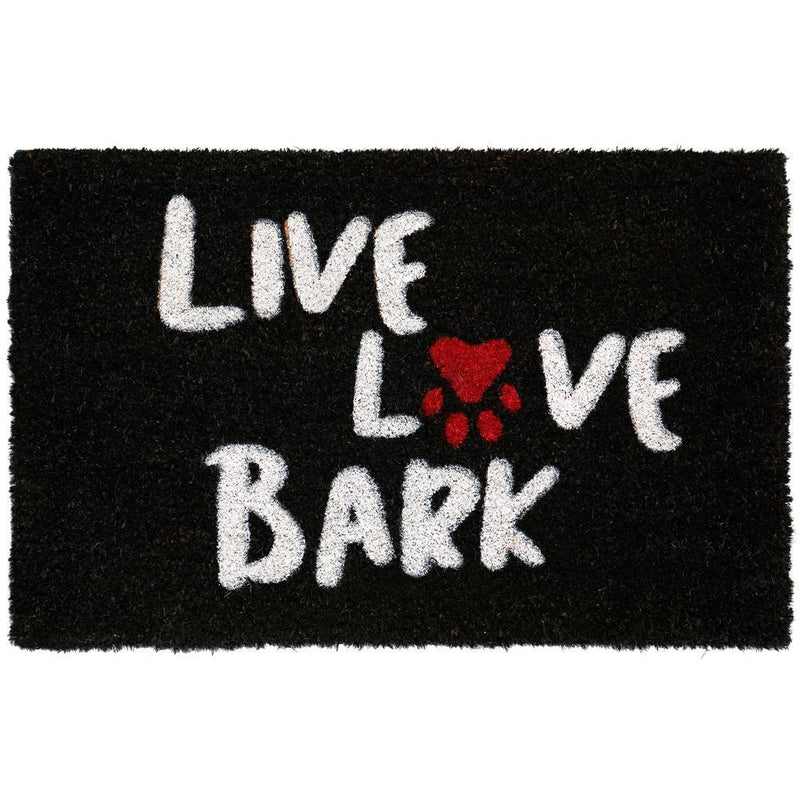 Nicole Miller Long Lasting Outdoor Coir Mat - Assorted Styles Home Essentials Live Love Bark - DailySale