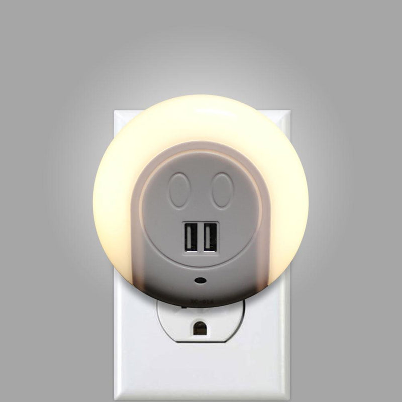 Night Light With 2 USB Ports Lighting & Decor - DailySale