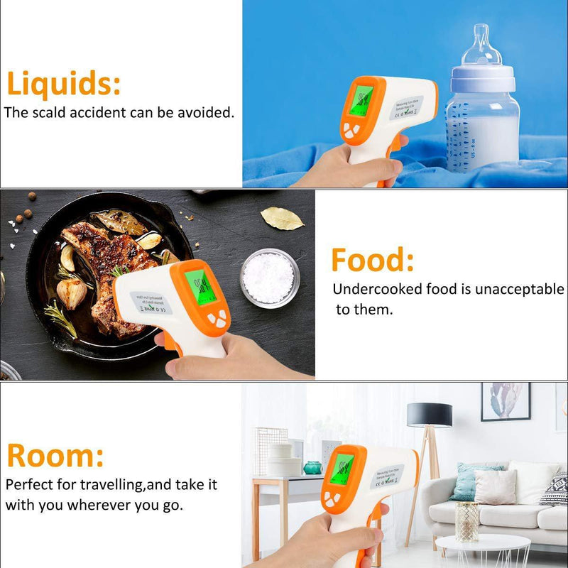 Non-Contact Digital Infrared Thermometer D-380 Wellness & Fitness - DailySale