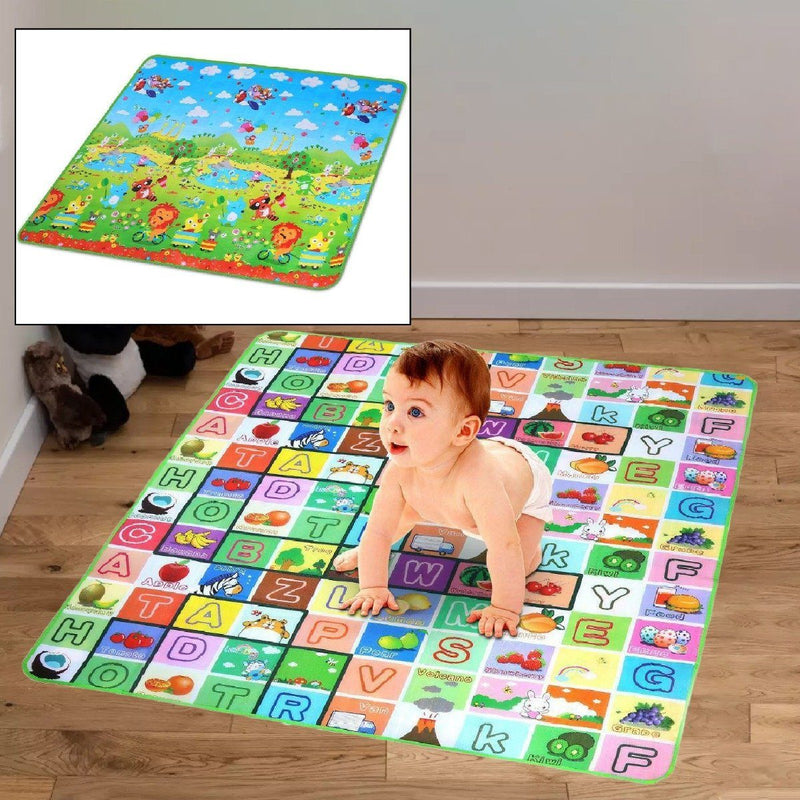 Non-Slip 2 Sides Foldable Soft Foam Kids Play Mat Toys & Games - DailySale