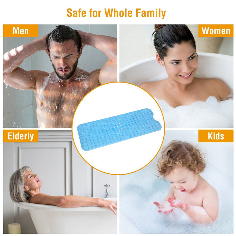 Non Slip Shower Mat Massage Anti-Bacterial with Suction Cups Bath - DailySale