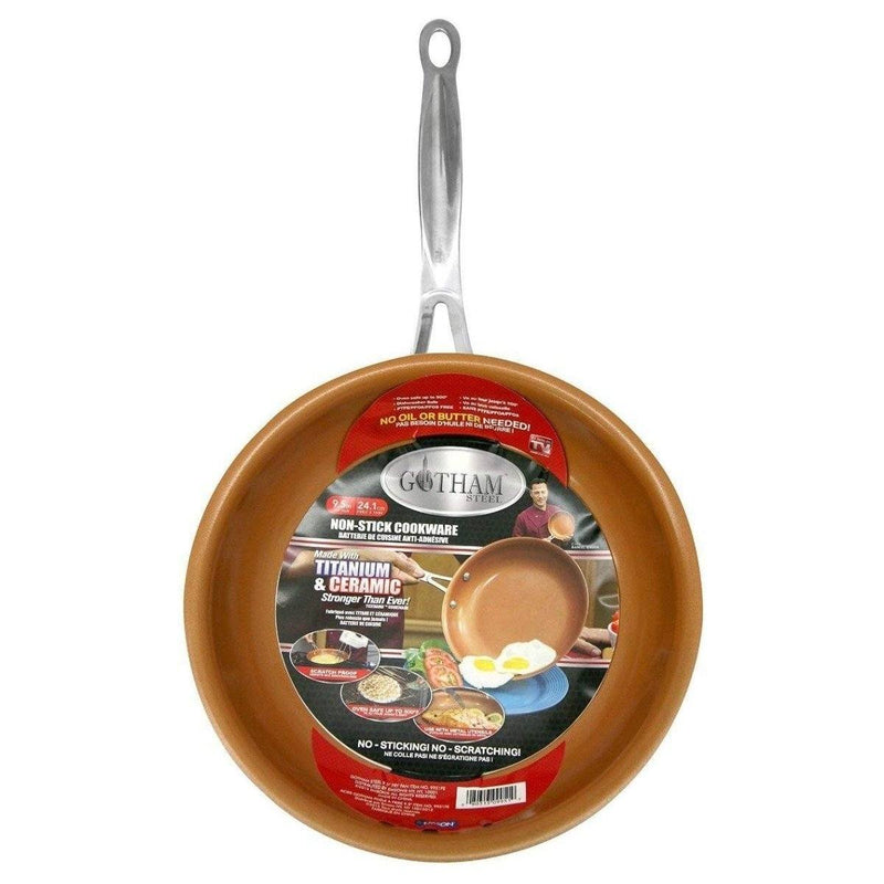 "Non-Stick Gotham Steel 9.5 and 11"" Frying Pan Set Kitchen Essentials - DailySale"