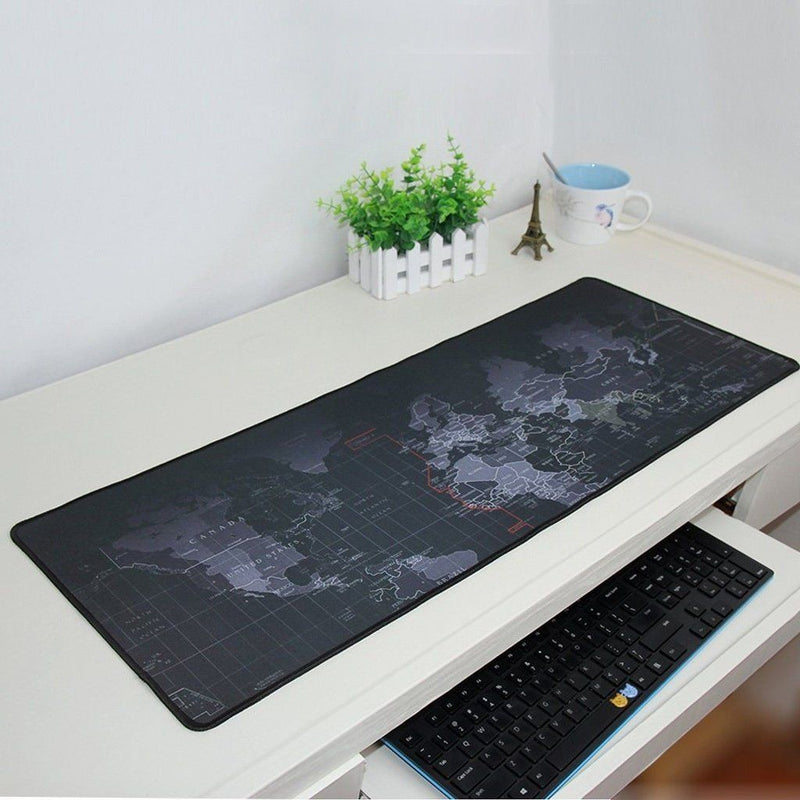 Old World Map Full Desk Coverage Gaming and Office Mousepad Tablets & Computers - DailySale