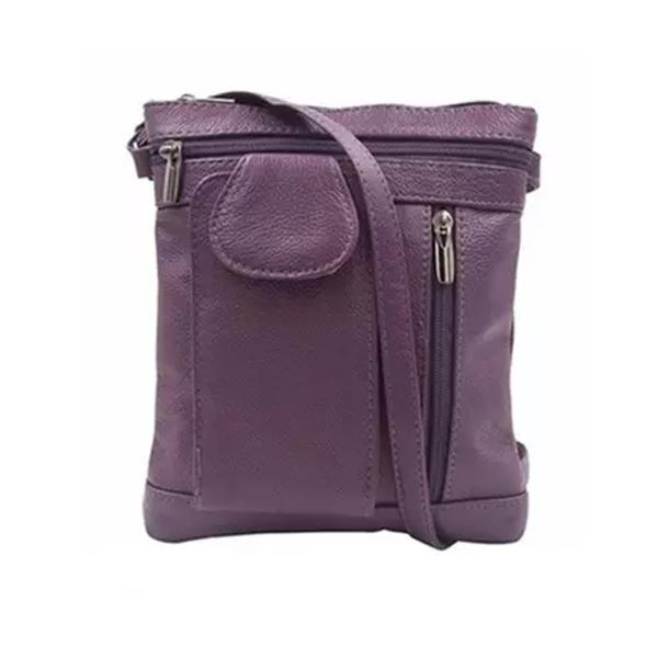 On-The-Go Soft Leather Crossbody Bag Bags & Travel Large Purple - DailySale