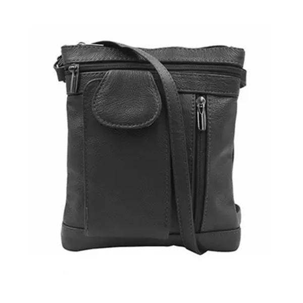 On-The-Go Soft Leather Crossbody Bag Bags & Travel Medium Black - DailySale