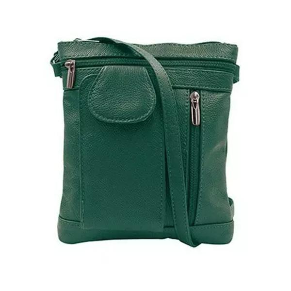 On-The-Go Soft Leather Crossbody Bag Bags & Travel Medium Green - DailySale