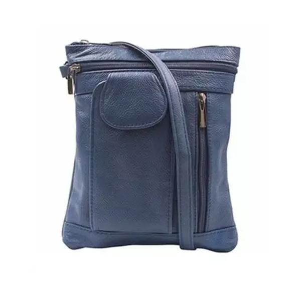 On-The-Go Soft Leather Crossbody Bag Bags & Travel Medium Navy - DailySale
