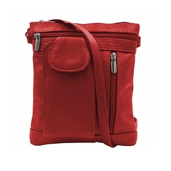 On-The-Go Soft Leather Crossbody Bag Bags & Travel Medium Red - DailySale