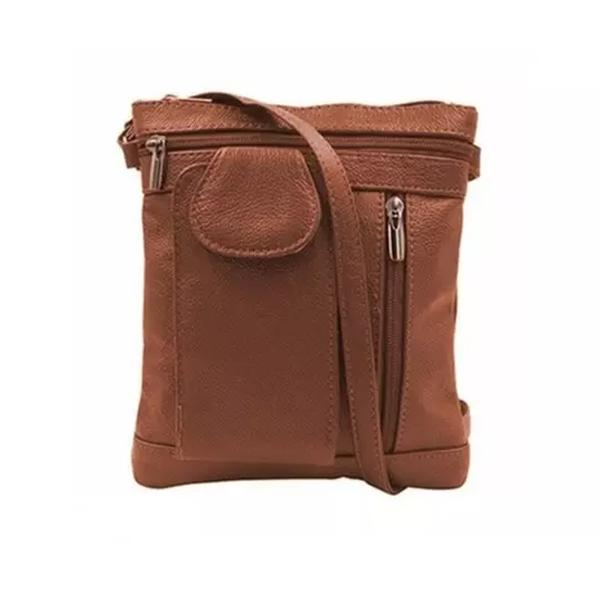On-The-Go Soft Leather Crossbody Bag Bags & Travel RFID Brown - DailySale