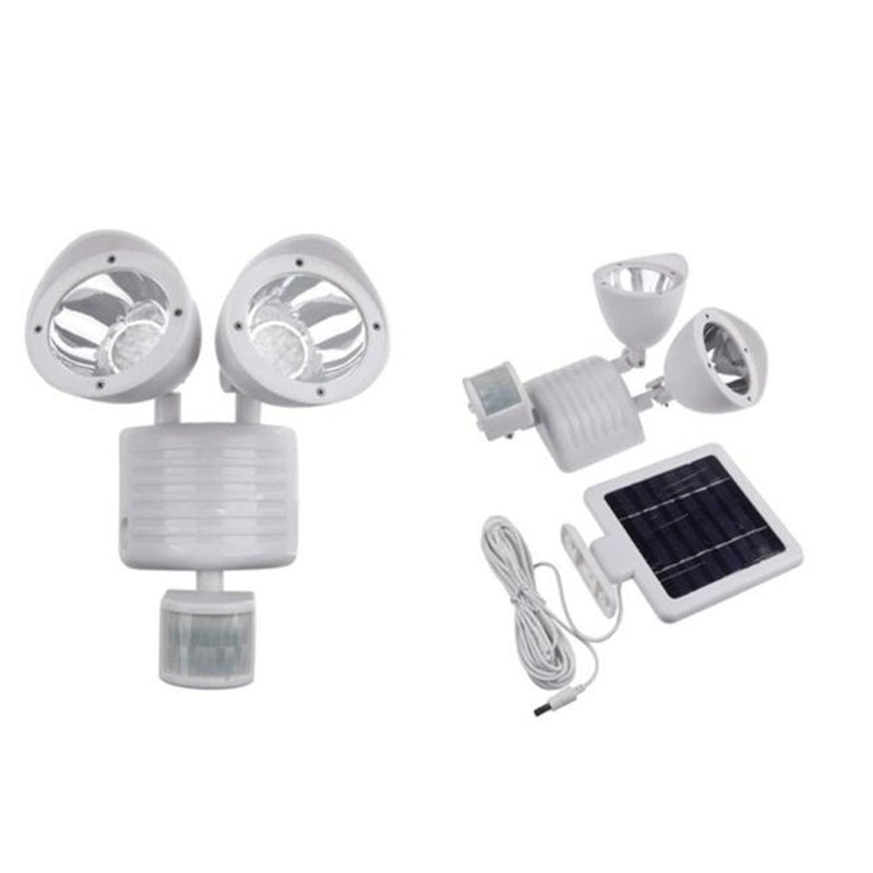 Outdoor Nation Solar Powered 22-LED Security Floodlight Home Lighting White - DailySale