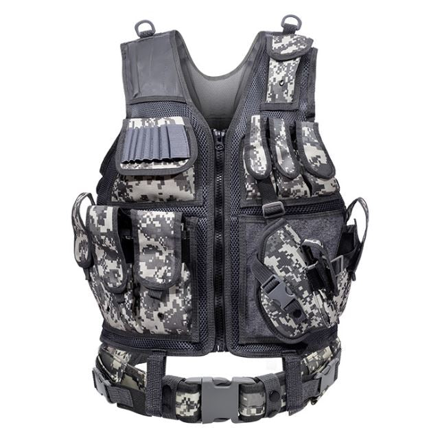Outdoor Nation Universal Design Tactical Vest Sports & Outdoors ACU Camouflage - DailySale