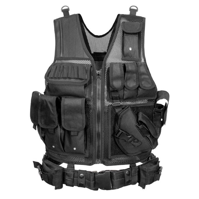 Outdoor Nation Universal Design Tactical Vest Sports & Outdoors Black - DailySale