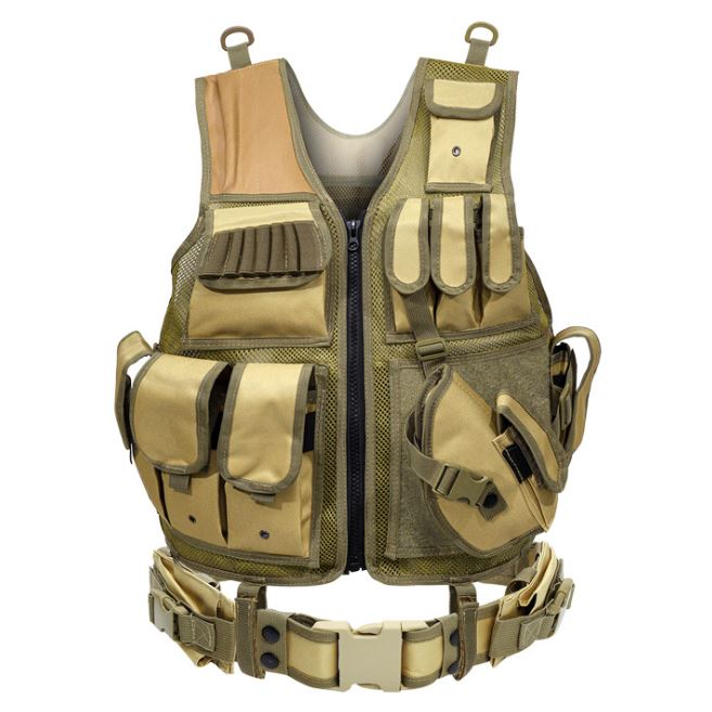 Outdoor Nation Universal Design Tactical Vest Sports & Outdoors Brown - DailySale