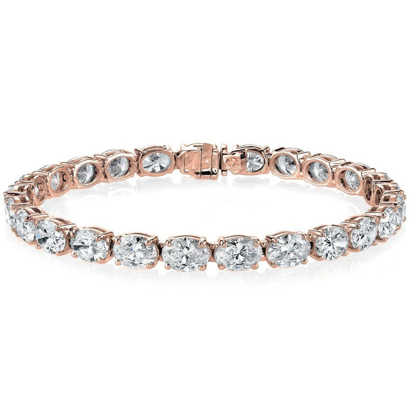 Oval Tennis Bracelets Made With Swarovski Elements Jewelry Rose Gold - DailySale