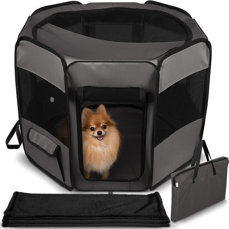 Paws & Pals Portable Pet Playpen with Blanket