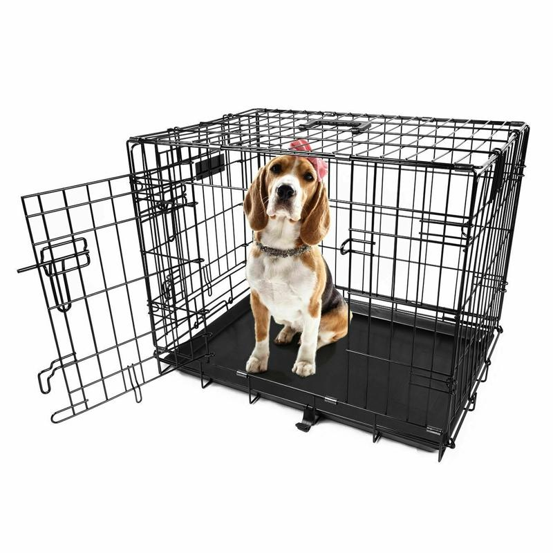 "Pet Crates Folding Metal - Assorted Sizes Pet Supplies 24"" - DailySale"