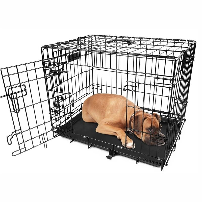 "Pet Crates Folding Metal - Assorted Sizes Pet Supplies 30"" - DailySale"
