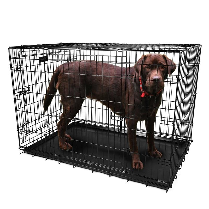 "Pet Crates Folding Metal - Assorted Sizes Pet Supplies 42"" - DailySale"