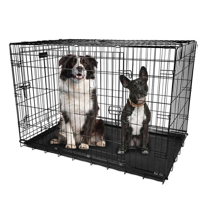 "Pet Crates Folding Metal - Assorted Sizes Pet Supplies 48"" - DailySale"