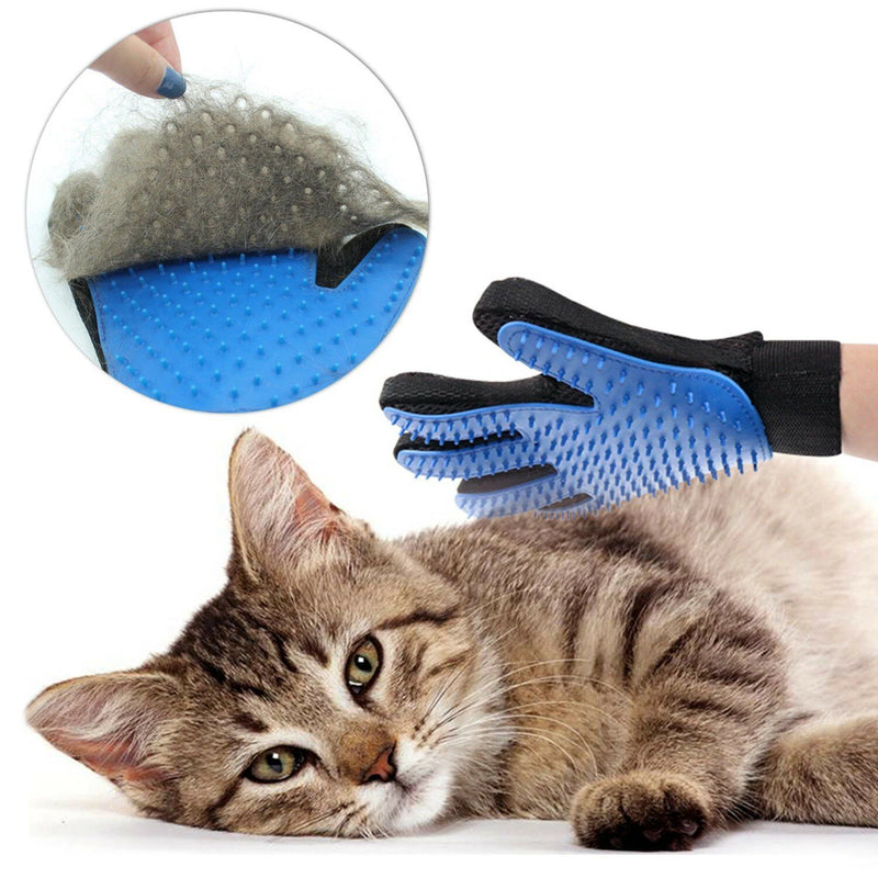 Pet Hair Brush Dog Cat Comb Gloves Grooming Remover Mitt Fur Massage DeShedding Pet Supplies - DailySale