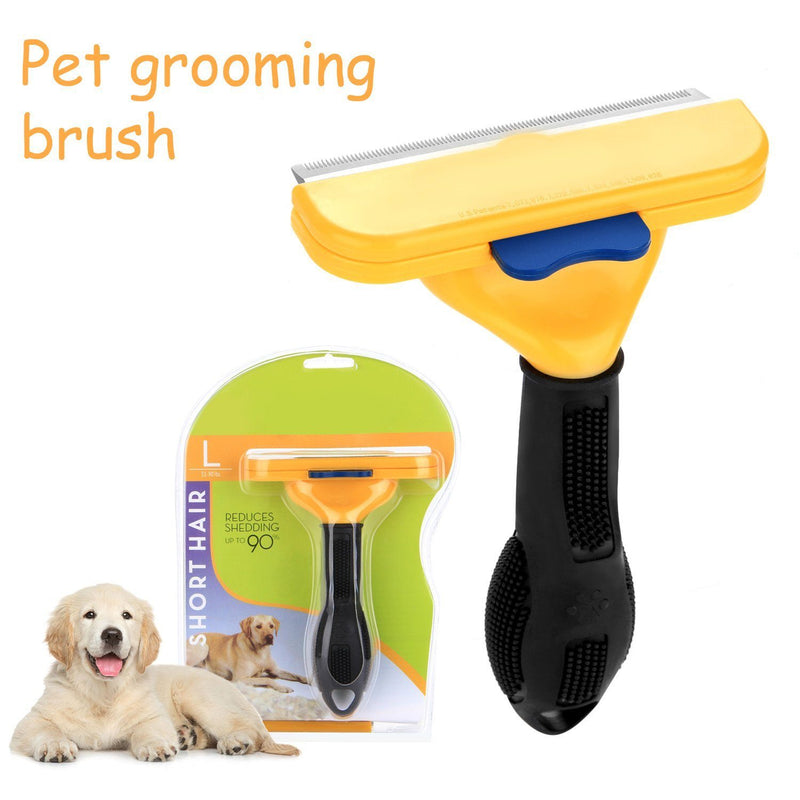Pet Short Hair Brush Removal DeShedding Grooming Tool Pet Supplies - DailySale
