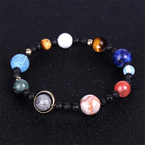Planets of the Galaxy Marble Stretch Bracelet Jewelry - DailySale