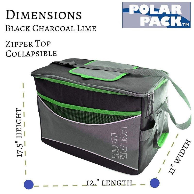 Polar Pack Extra Large 48 Can Insulated Collapsible Cooler Bag - Assorted Colors Sports & Outdoors - DailySale