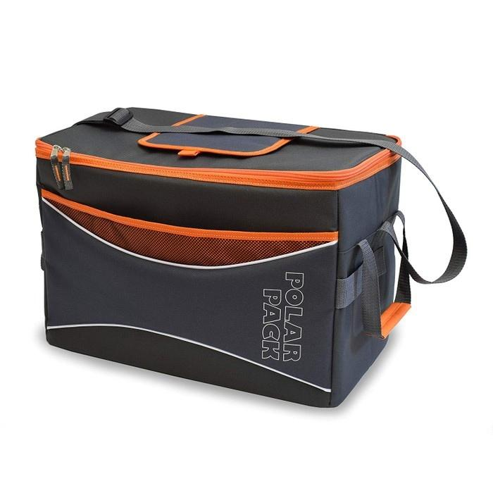 Polar Pack Extra Large 48 Can Insulated Collapsible Cooler Bag - Assorted Colors Sports & Outdoors Orange - DailySale
