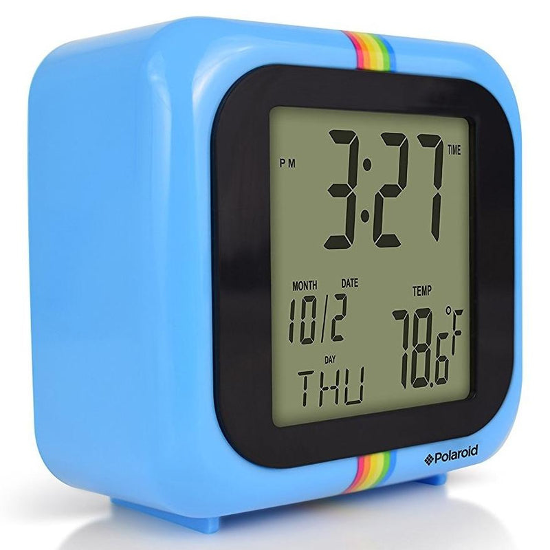 Polaroid Desktop Digital Clock - Assorted Colors Home Essentials Blue - DailySale