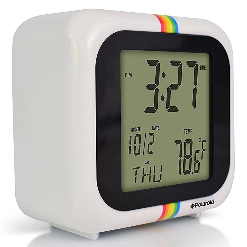 Polaroid Desktop Digital Clock - Assorted Colors Home Essentials White - DailySale