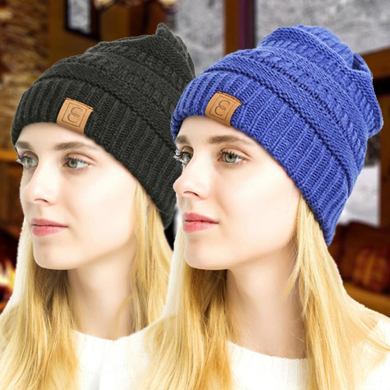 Popular CC Chic Winter Beanie Hat Women's Apparel - DailySale
