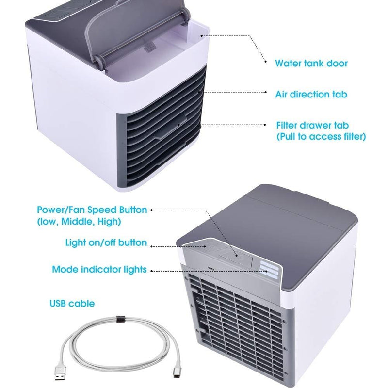 Portable Air Space Cooler & Purifier Home Essentials - DailySale