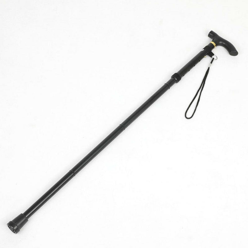 Portable Aluminum Folding Walking Travel Stick Cane Wellness & Fitness Black - DailySale