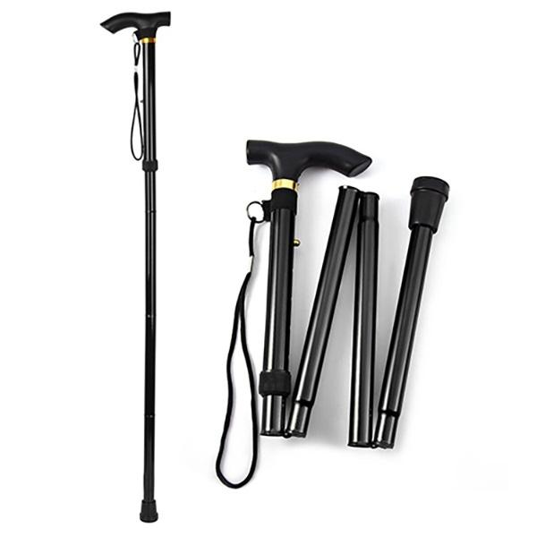 Portable Aluminum Folding Walking Travel Stick Cane Wellness & Fitness - DailySale
