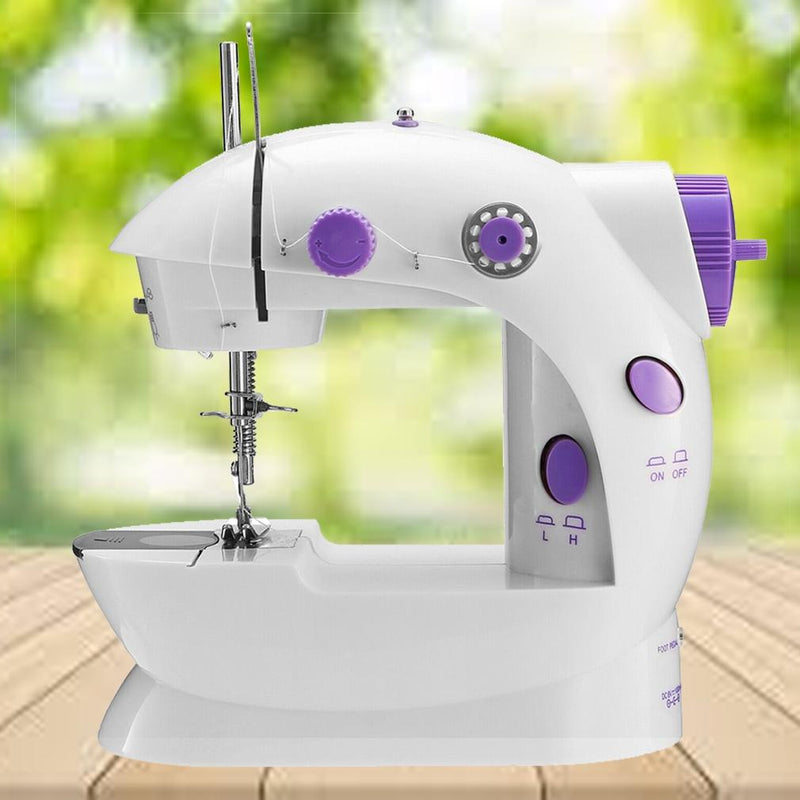 Portable Electric Sewing Machine w/ Foot Pedal LED Light Home Essentials - DailySale