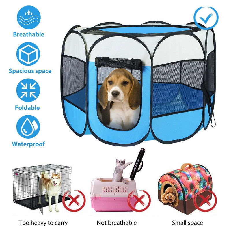 Portable Foldable Pet Playpen For Dogs Cats Other Pets Pet Supplies - DailySale