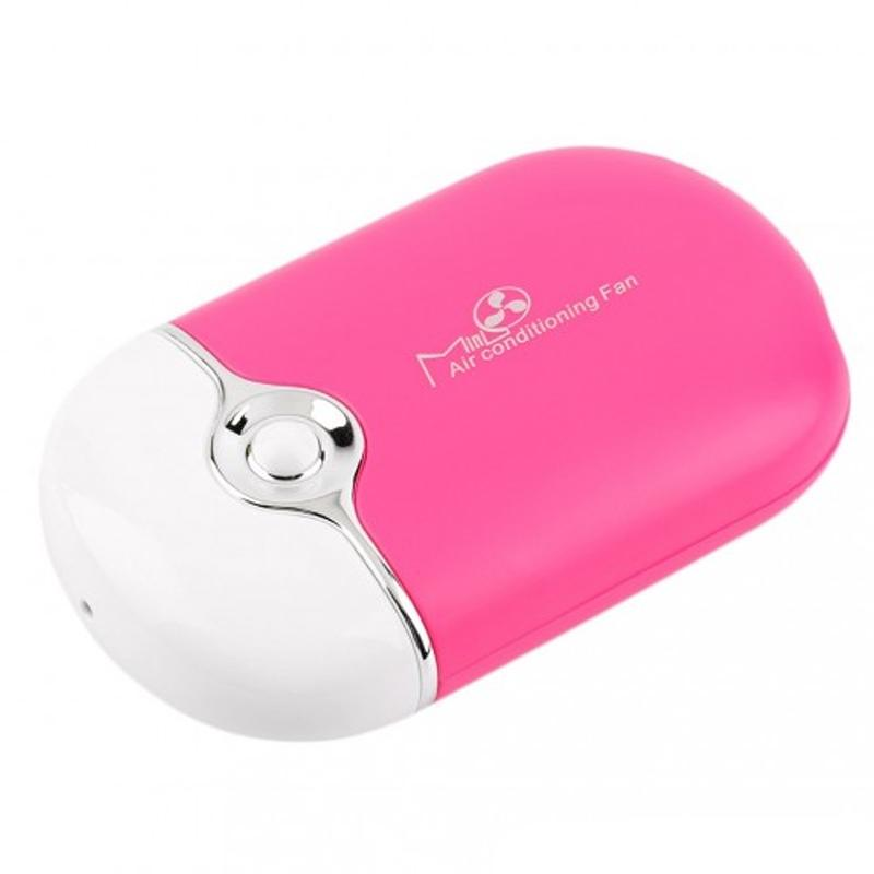 Portable Mini Personal Air Conditioning Fan Phones & Accessories Pink - DailySale