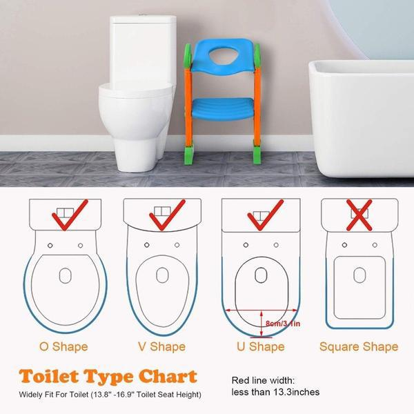 Potty Training Toilet Seat with Steps Baby - DailySale