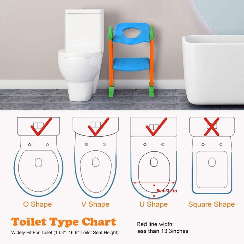 Potty Training Toilet Seat with Steps Toys & Games - DailySale