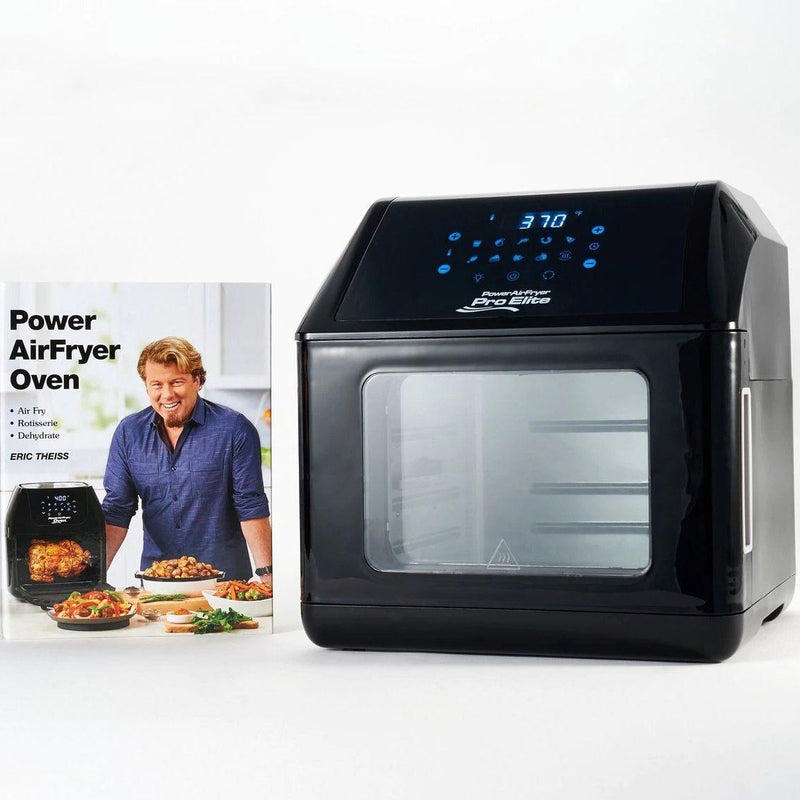 Power Air Fryer 10-in-1 Pro Elite Oven 6-qt with Cookbook Kitchen Essentials Black - DailySale