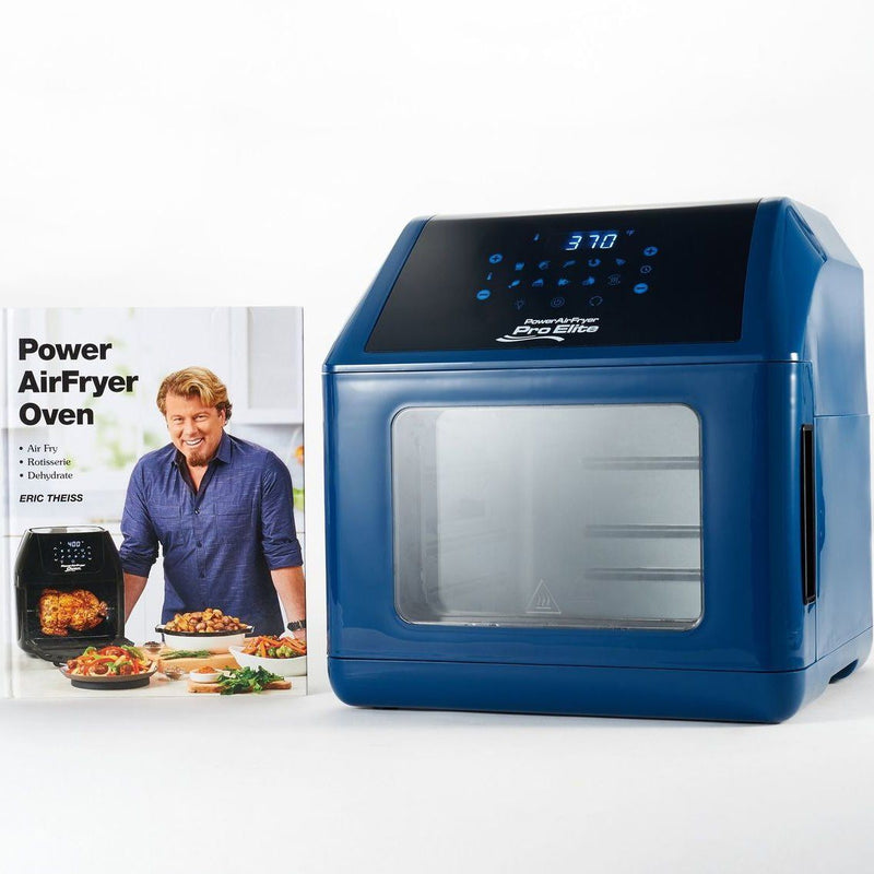 Power Air Fryer 10-in-1 Pro Elite Oven 6-qt with Cookbook Kitchen Essentials Blue - DailySale