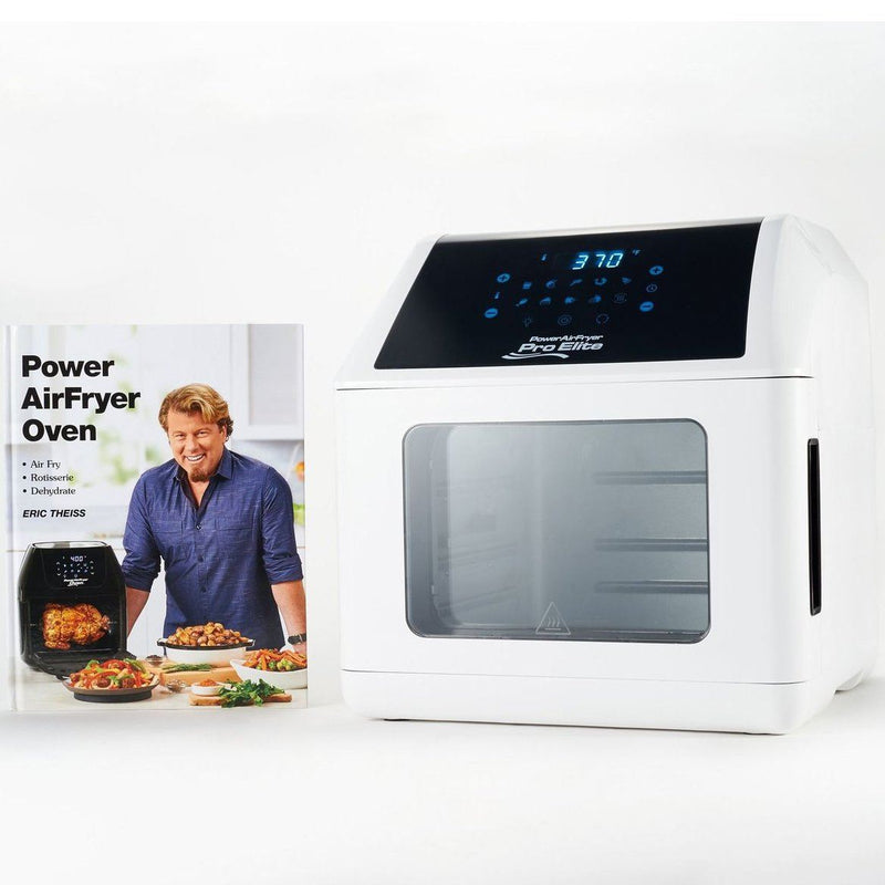 Power Air Fryer 10-in-1 Pro Elite Oven 6-qt with Cookbook Kitchen Essentials White - DailySale