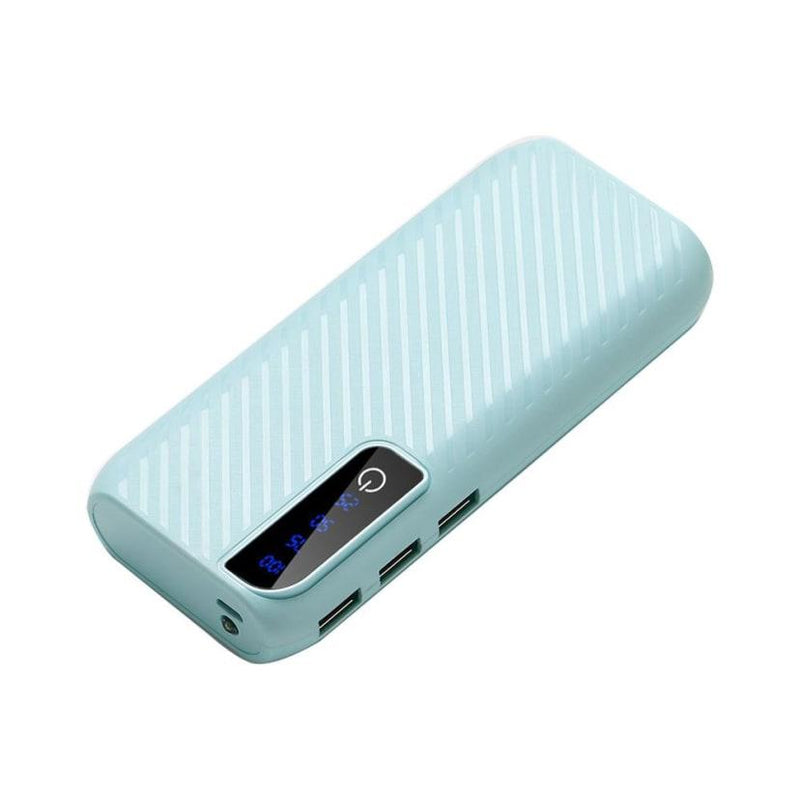 Power Bank With 3 USB Ports and Flashlight Mobile Accessories Teal - DailySale