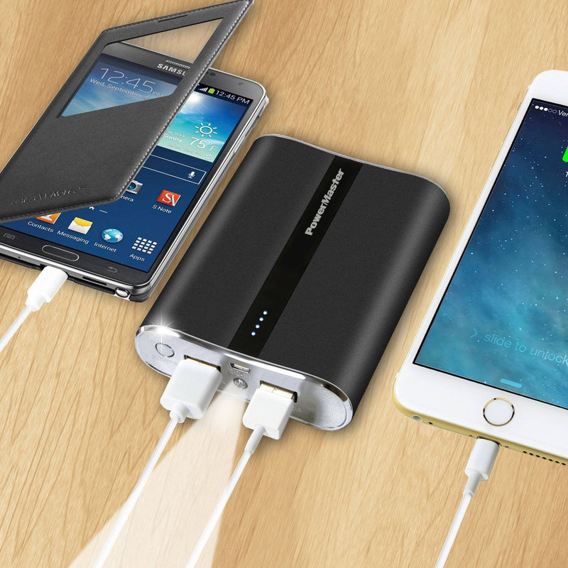 Powermaster 12000mAh Portable Charger with Dual USB Ports 3.1A Output Mobile Accessories - DailySale