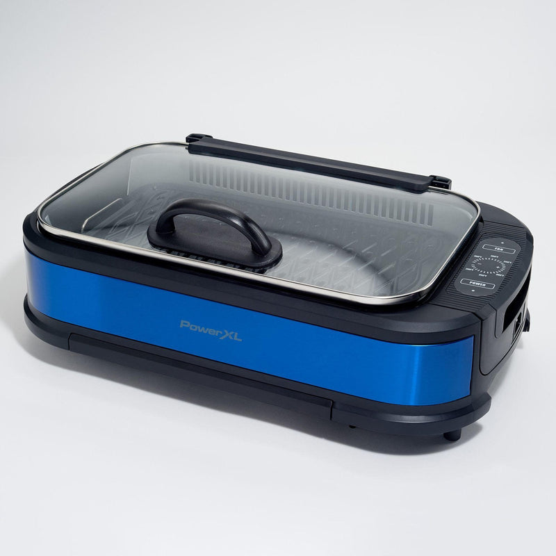 PowerXL 1500W Smokeless Grill Pro with Griddle Plate Kitchen & Dining Blue - DailySale