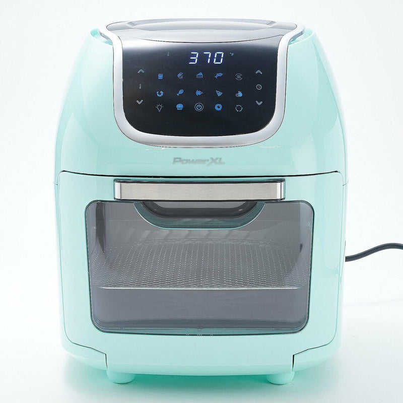 PowerXL 1700W 10-qt Vortex Air Fryer Pro Oven with Presets & Accessories Kitchen & Dining Seafoam - DailySale