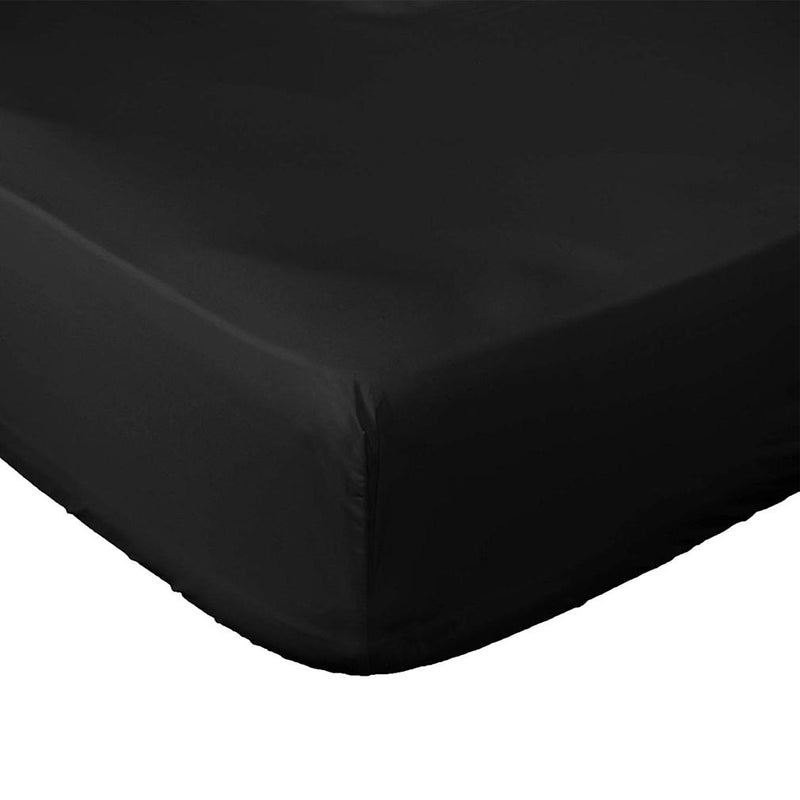 Premium Fitted Bottom Sheet - Assorted Colors and Sizes Linen & Bedding Queen Black - DailySale