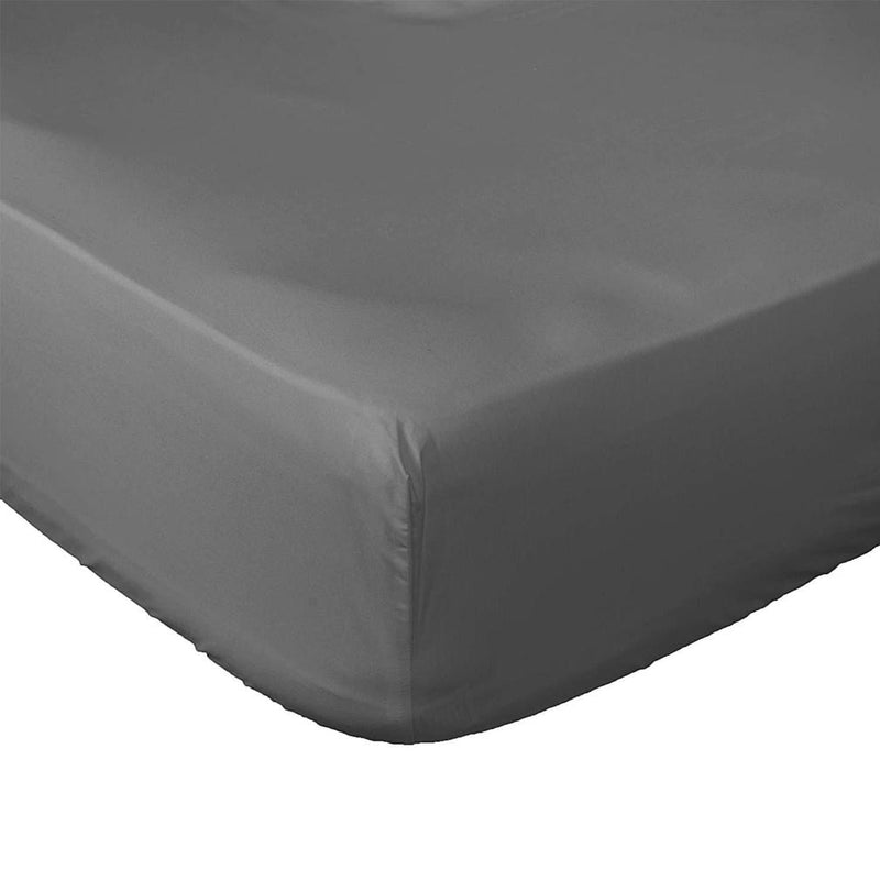 Premium Fitted Bottom Sheet - Assorted Colors and Sizes Linen & Bedding Queen Gray - DailySale